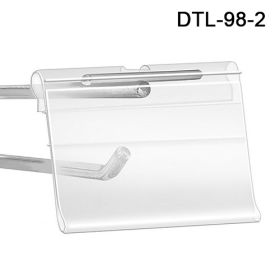Wide Label Holder for T-Scan Style Metal Display Hooks, DTL-98-2