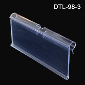 3 Inch Label Holder, Data-Tag™  for T-Scan Style Metal Display Hooks, DTL-98-3