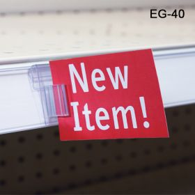 Shelf Edge Flag Sign Holder & Aisle Violators, EG-40