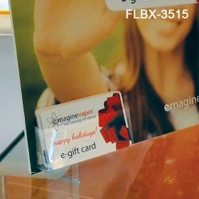 Clear Pre-Formed Peel & Stick Business Card Literature Holder, FLBX-3515