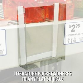 Pre-Formed Peel & Stick Clear Literature Holder, FLBX-4512
