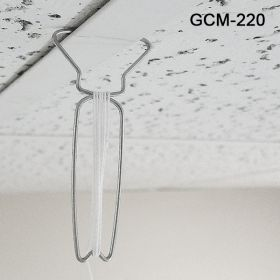 Reusable Ceiling Hanger with 6' white barbed cord, GCM-220