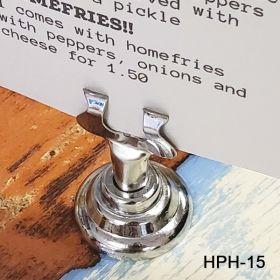 """Reusable, Harp Clip Sign Holder, 1.5"""" Stem, HPH-15"""