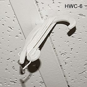 Plastic Ceiling Hook, with 6 foot cord, HWC-6