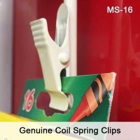 Metal Clip Strip® Merchandising Strip, with Genuine coil spring clips, MS-16