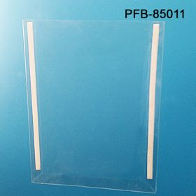 "Protected Clear Face Pocket with Adhesive Backer- Wall Mounts - Clear Plastic Display, 8.5"" x 11"", PFB-85011"