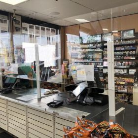 checkout counter window protective  sheild, CG-1