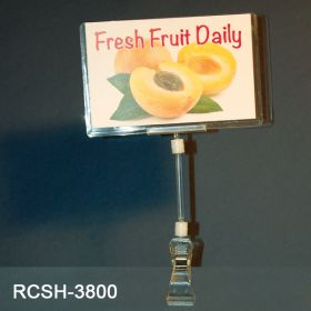 clip on sign holder with print protector, RCSH-3800