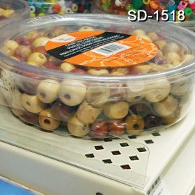 """Clear plastic shelf divider does not block product, 1"""" tall x 17.5625"""" long, SD-1518"""