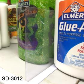 "Plastic Shelf Divider, Peel and Stick, 3"" x 12"", SD-3012"