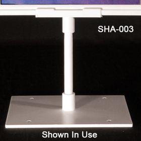 Sign holder stem has a tapered end for effortless fit, SHA-003