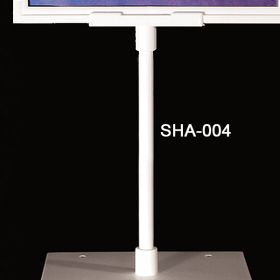 "White 8"" stem for sign holder frame, retail counter signage, SHA-004"