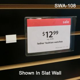 Slatwall Sign and Display Adapter with tape, SWA-108