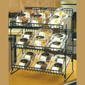 Metal Countertop Display Rack, with 3 Tiers/Shelves, SWCD-320