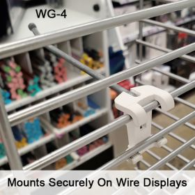 "Secure 4"" No Sag™ Easy Remove Back Wire Power Panel Wing Metal Hook, WG-4"