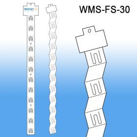 "Folding Display strip with Header, by Clip Strip ® Brand , 12 Hooks, 25"" Long, WMS-FS-30"