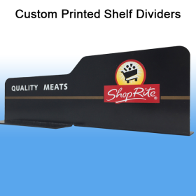 Full Color Custom Printed Shelf Dividers