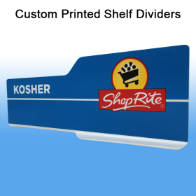 Clip Strip Corp. Shelf Dividers - Custom Printed PVC