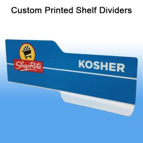 Shelf Dividers - Custom Printed PVC