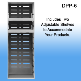Clip Strip Corp. Corrugated Power Panel Tray, with Two Adjustable Shelves, DPP-6