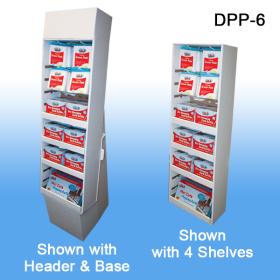 Stock Corrugated Power Panel Tray with Shelvesand peg hook slots, DPP-6