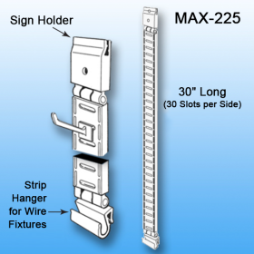 Double Sided Merchandise Peg & J Hook Display   Clip Strip - POP Materials, MAX-225