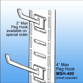 Merchandise Display Strip - Plastic Hooks | Point of Sale Products, MSH-400