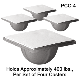 Self Stick Display Caster, Made of durable polyethelene, PCC-4