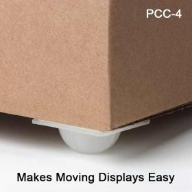 Clip Strip Corp. Self Stick Display Caster, PCC-4