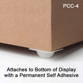 Self Stick Display Caster. Holds approximately 400 lbs. per set of four casters, PCC-4