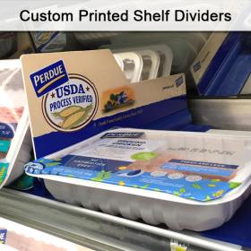 POP Shelf Dividers, Custom Printed