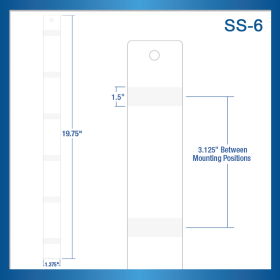 Adhesive Sticky Strip Display Strip- Retail & Point of Sale - Snack Display, item# SS-6