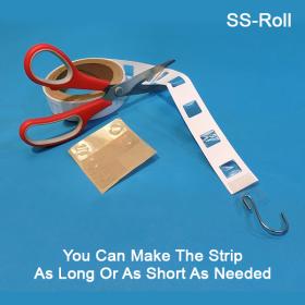 SS-Roll, sticky adhesive type display merchandiser strip