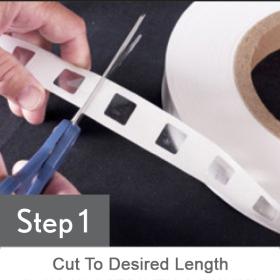 Clip Strip® Sticky Strips™ STEP 1