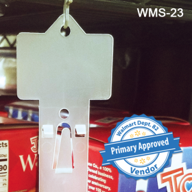 Walmart Approved Molded Display Clip Strip®, Product Merchandising, WMS-23. In-Stock and Ready to Ship!